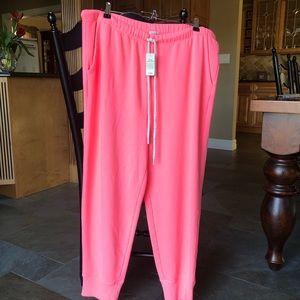 NWT Aerie Neon Pink Drawstring Jogger Sweatpants